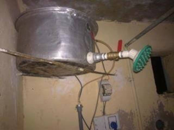 A great example of Jugaad, a shower is created using every day objects. Source: http://www.funkyphotos.org/2012/06/funny-indian-shower-for-bathing-indian.html